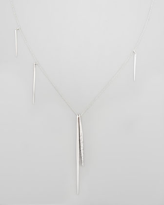 Silvertone Spear Necklace