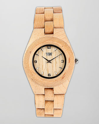 Odyssey Maple Wood Watch, Brown