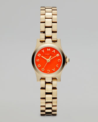 Yellow Golden Sunray Watch, Fluoro Orange