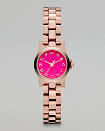 Rose Golden Sunray Watch, Knockout Pink