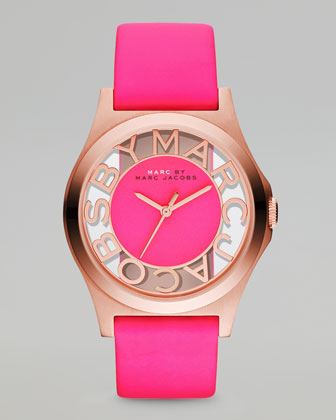 Sunray Dial Watch, Knockout Pink