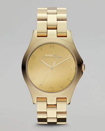 Yellow Golden Watch, 36.5mm