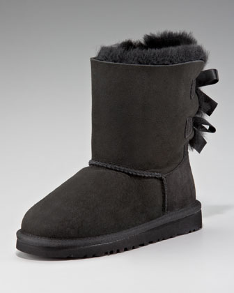 Black Bailey Bow-Back Boot, Youth