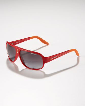 Children's Mid-Size Classic Carrerino Sunglasses, Red/Orange