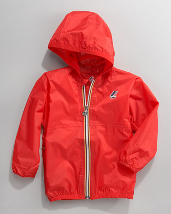 Claude Classic Packable Waterproof Jacket, Red