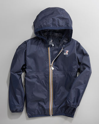 Claude Classic Packable Waterproof Jacket, Navy