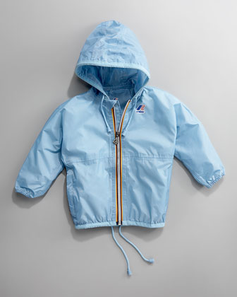 Claude Classic Packable Waterproof Jacket, Light Blue