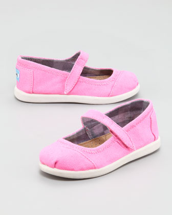 Canvas Mary Jane Slip-On, Pink, Tiny