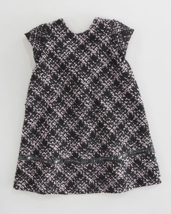 Boucle Bow-Back Dress, Sizes 4-6X
