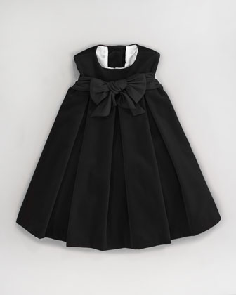 Velvet Pleat-Front Dress, Sizes 2-3T