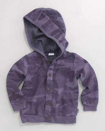Camo Hooded Zip Jacket, Sizes 4-7X