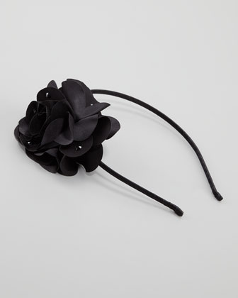 Feel Good Floral Headband, Black