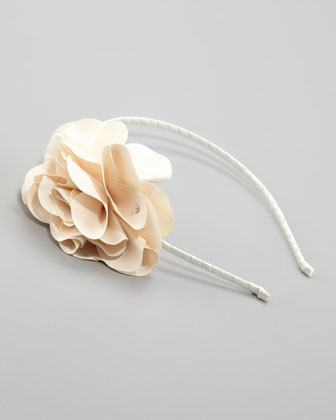 Feel Good Floral Headband, Ivory