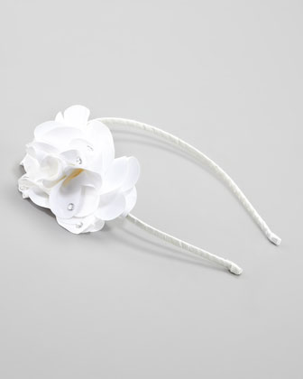 Feel Good Floral Headband, White