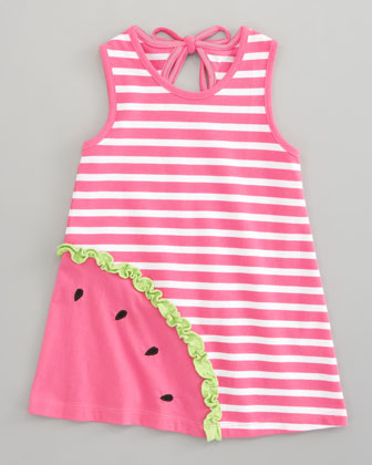 Watermelon Pique Dress, Sizes 4-6X