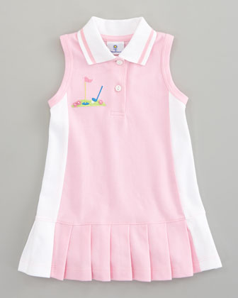 Miniature Golf Knit Pique Dress, Sizes 4-6X