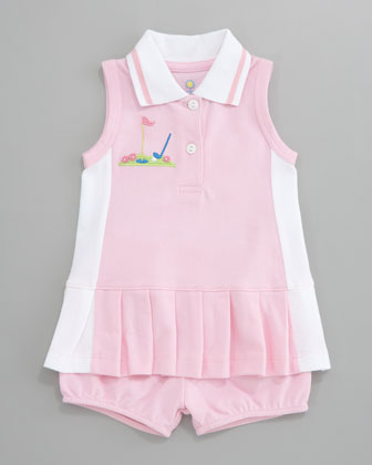 Miniature Golf Knit Pique Dress, 12-24 Months