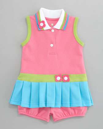 Bright Mix Pique Dress, 3-9 Months