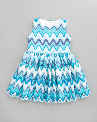 Chevron Lace Dress