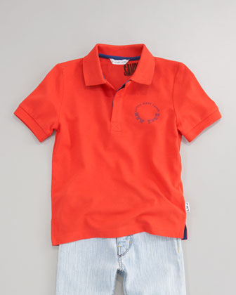 Pique Short-Sleeve Polo, Sizes 6-10
