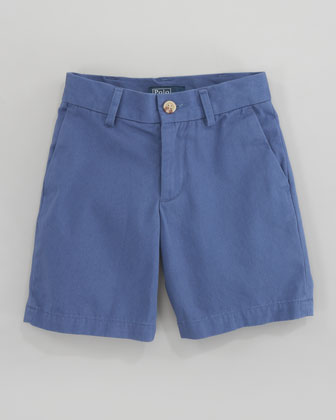Preppy Saltwater Washed Twill Shorts, Royal