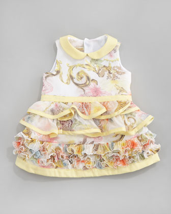 Floral Ruffle Dress, 12-24 Months