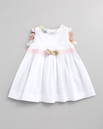 Sleeveless Floral-Ruffle Dress, Sizes 12-24 Months
