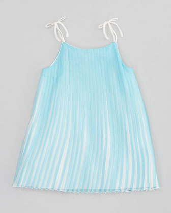 Mini-Me Satin Pleated Dress, Sizes 2-5