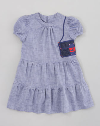Chambray Baguette Purse Dress, Sizes 2-5