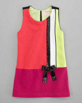 Colorblock Mod Shift Dress, Sizes 2-6