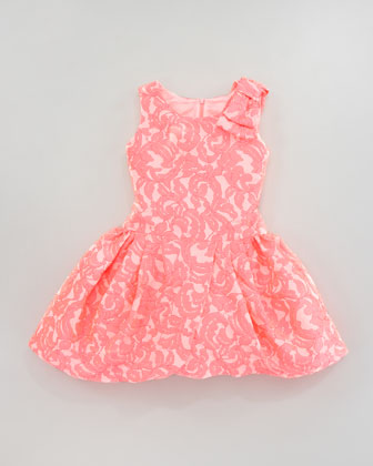 Brocade Tulip-Hem Dress, Sizes 2-6