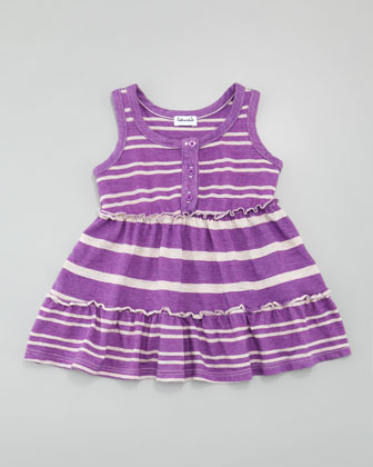 Sugarcane Striped Tank Dress, Jellyfish, 3-24 months