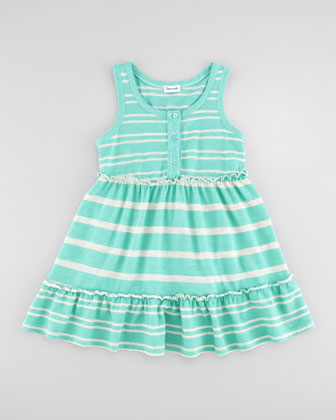 Sugarcane Striped Tank Dress, Seashell