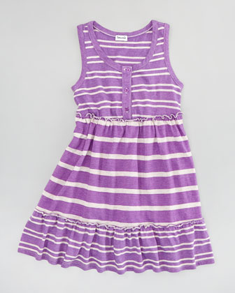 Sugarcane Striped Tank Dress, Jellyfish, Sizes 4-6X