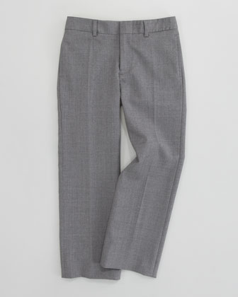 Flat Front Woodsman Trousers, Light Gray
