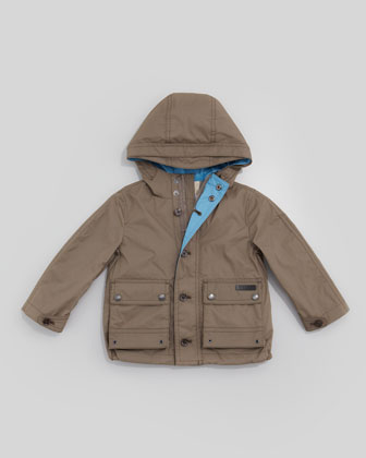 Lightweight Rain Jacket, Pale Birch Gray, Kid's Sizes