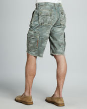 Recon Camouflage Cargo Shorts, Grass